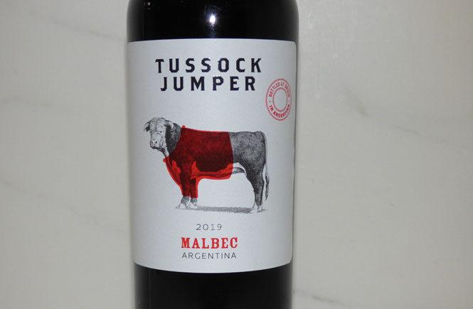 Tussock Jumper Bottle Label